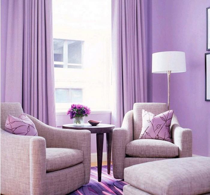 Фиолетовый  Фиолетовый цвет в интерьере