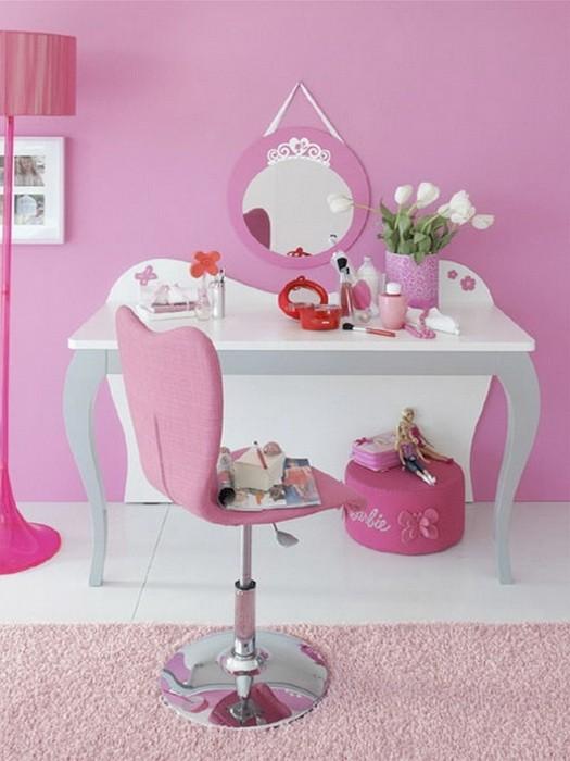 Розовый  Розовая комната для девочки