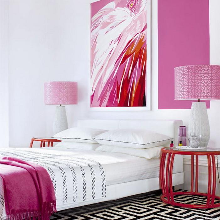 Розовый  Розовая ванная