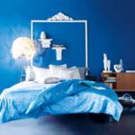 Синяя спальня для девушки