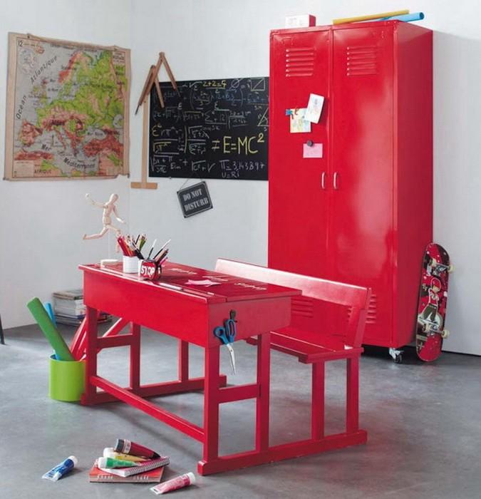 Красный  Интерьеры детских и подростковых комнат в красном