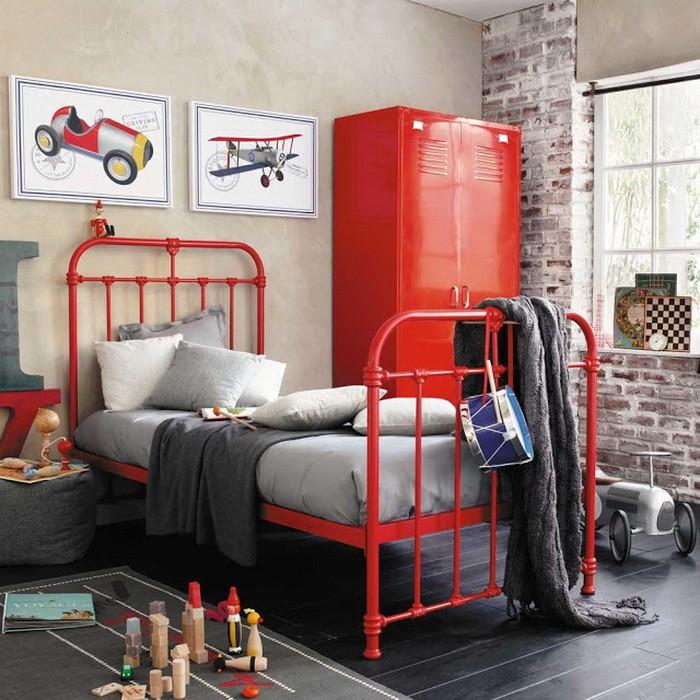 Интерьеры детских и подростковых комнат в красном_03