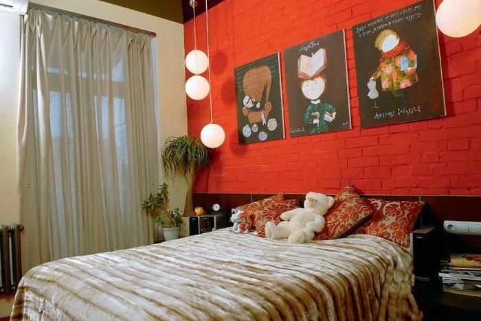 Красный  Красная спальня