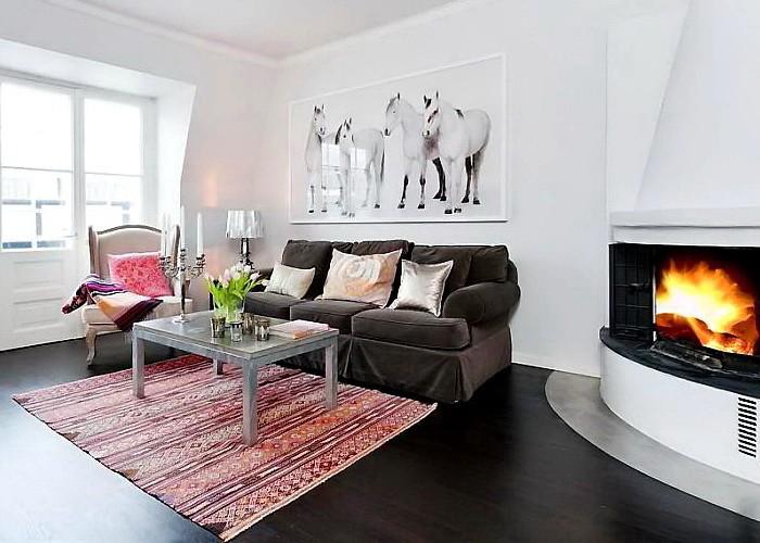 Скандинавский стиль  Квартира в Осло
