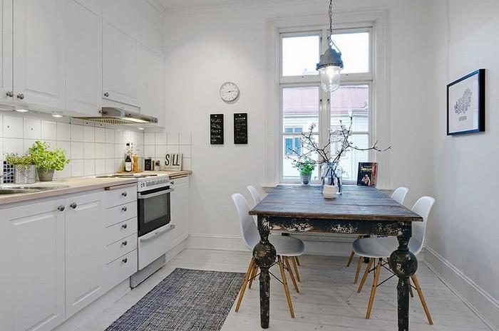 Скандинавский стиль Белый  Квартира в Швеции