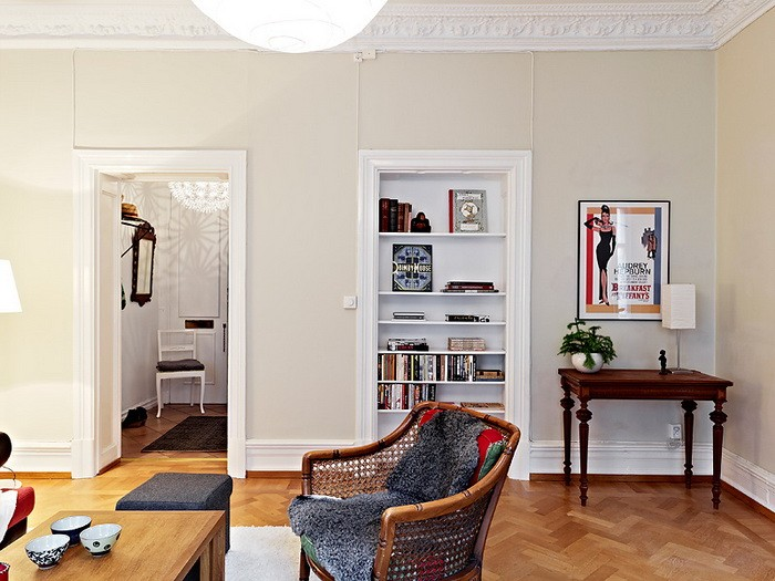 Скандинавский стиль Белый  Опять квартира в Швеции