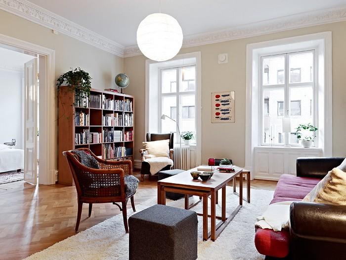 Скандинавский стиль  Интерьер квартиры в скандинавском стиле