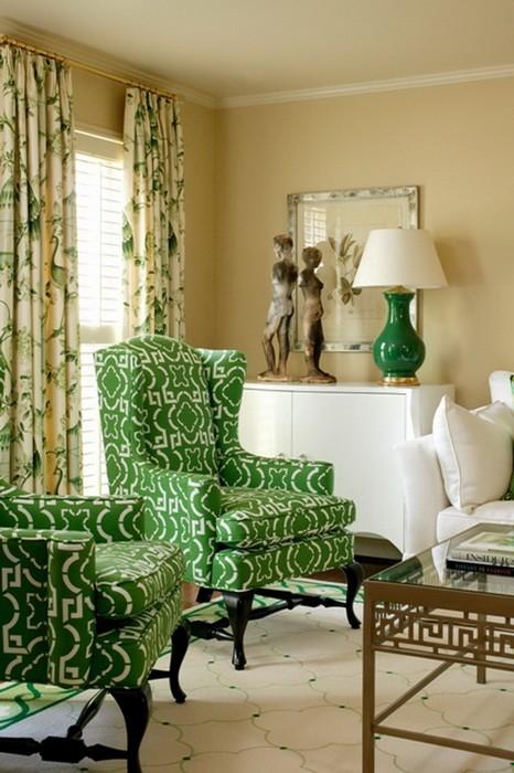 Яркий Зеленый  Сочный зеленый цвет в интерьере