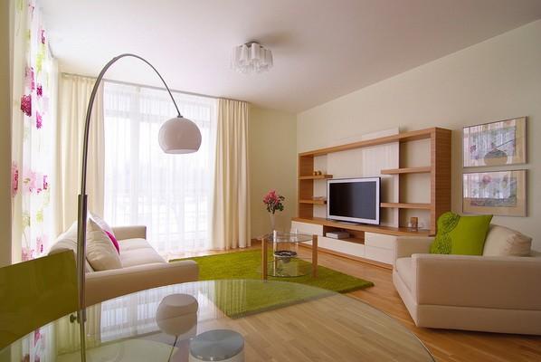 Небольшая квартира с уникальными графическими элементами