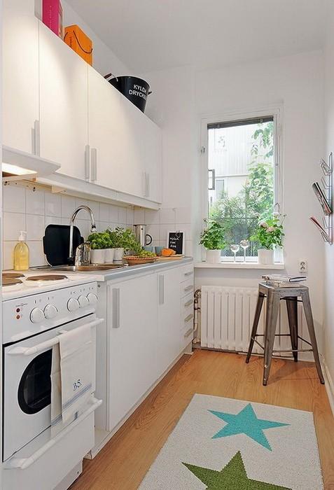 Дизайн узкой кухни: варианты интерьеров