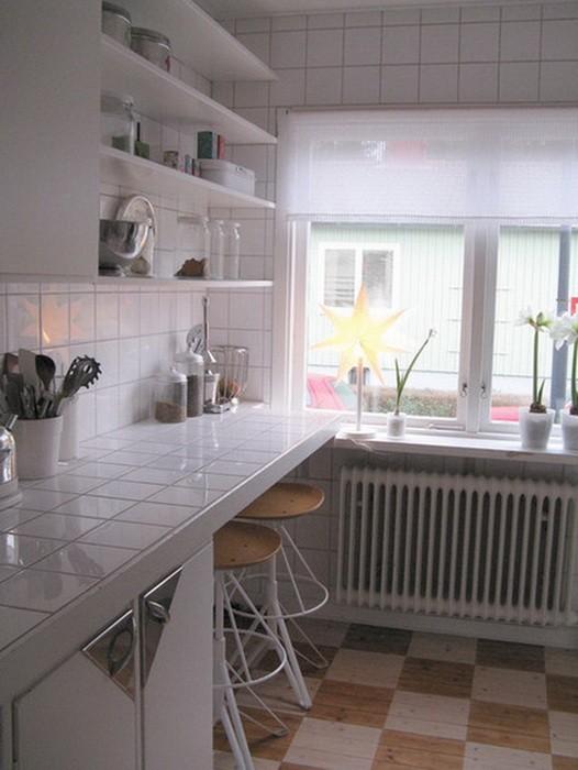 Ремонт узкой кухни фото