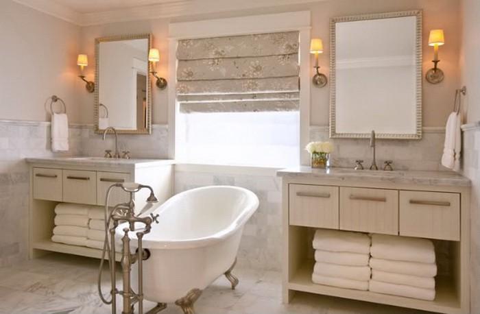 Бежевый  Ванная комната в бежевых тонах