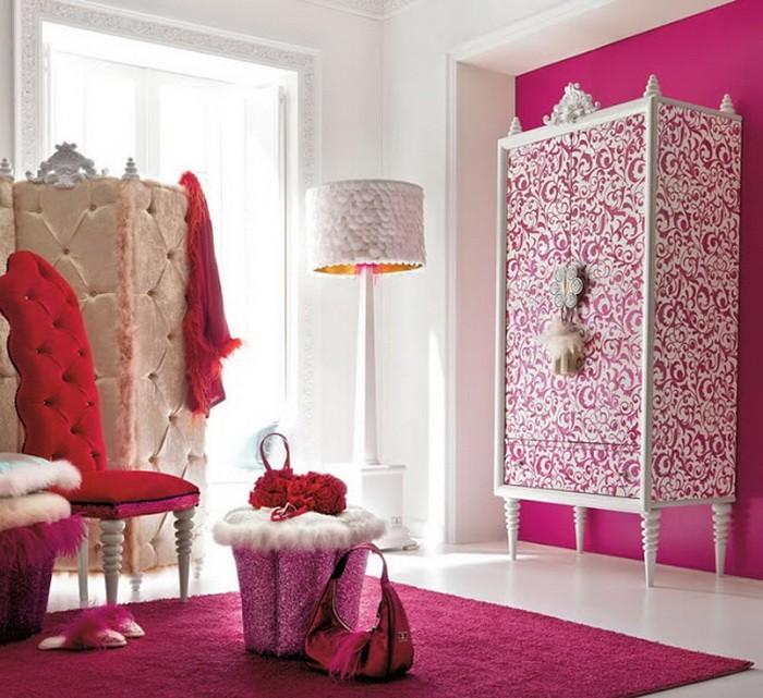 Яркий Розовый  Ярко розовый в интерьере
