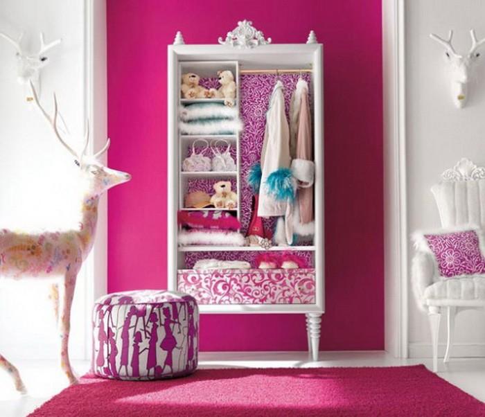 Розовый  Розовый цвет в интерьере