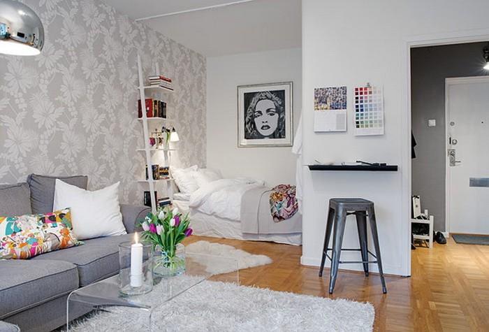 Маленькая  Дизайн однокомнатной квартиры с ребенком