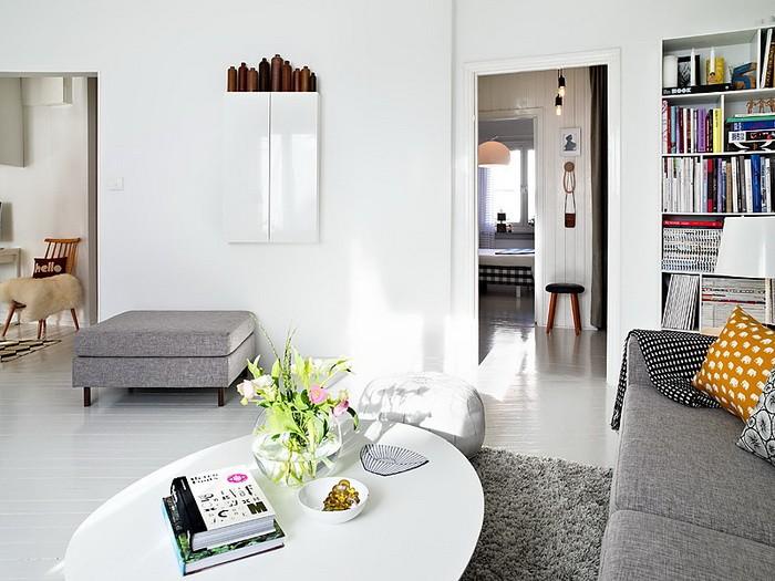 Интерьер квартиры шведском стиле
