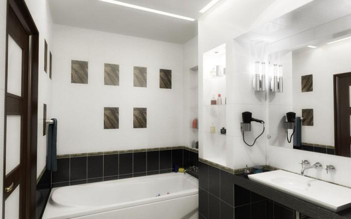 Маленькая  Интерьер маленькой ванной