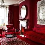 Красные гостинные