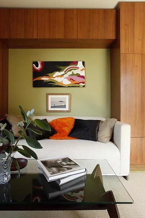 Зеленый  Оливковый цвет в интерьере