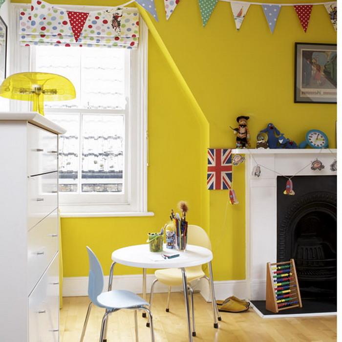 Желтый цвет в интерьере детской _01