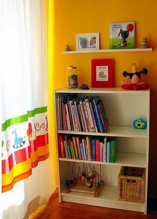 Желтый  Желтый цвет в интерьере детской