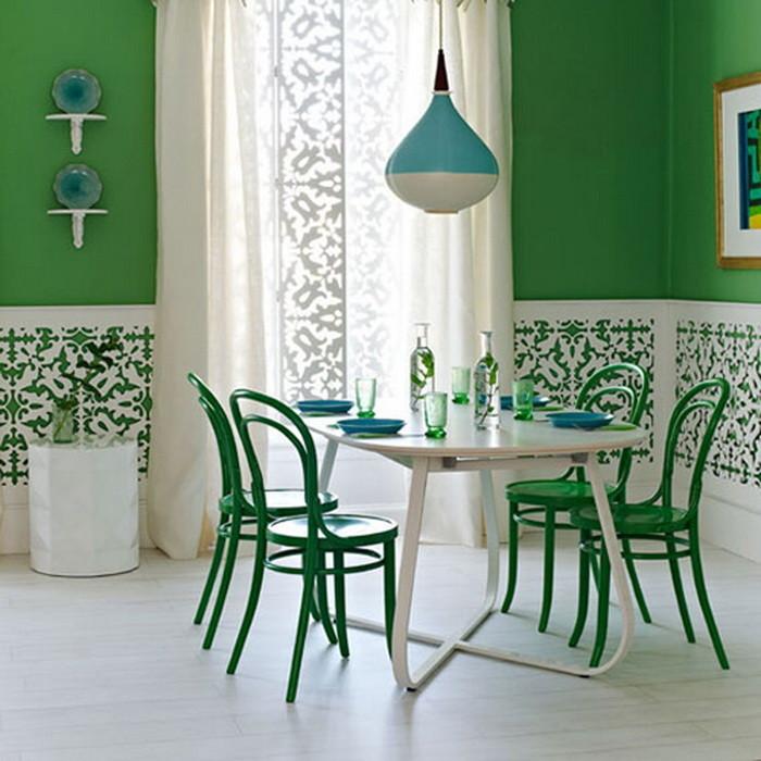 Зеленый цвет в интерьере _11