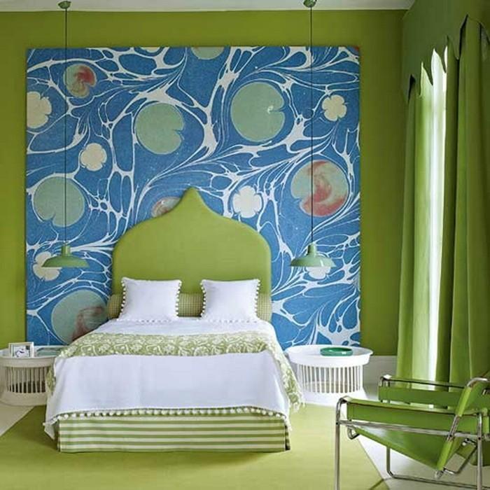 Зеленый  Зеленый цвет в дизайне интерьера