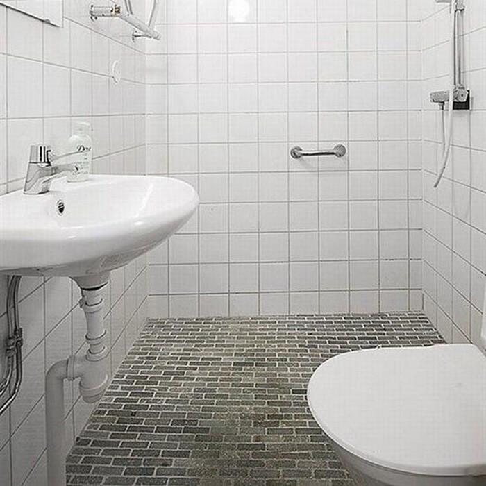 Белый  Белая ванная комната
