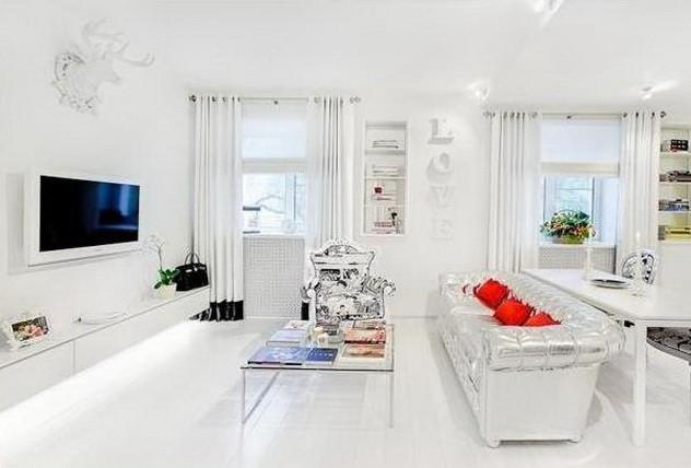 Дизайн белой квартиры  _01