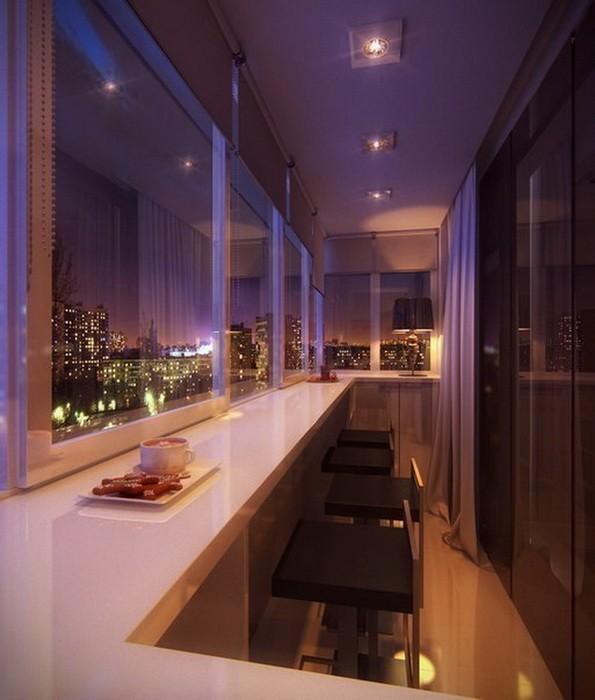 Идеи оформления балкона