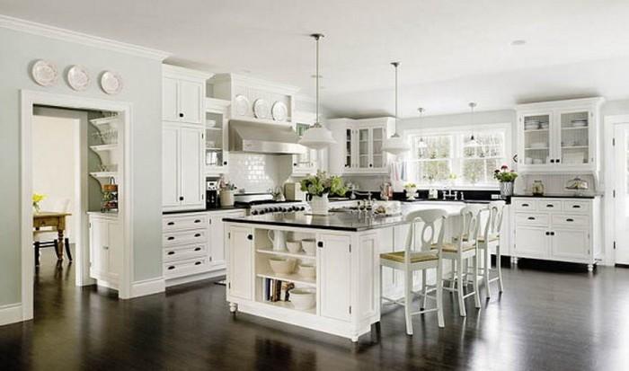 Белый  Интерьер белой кухни