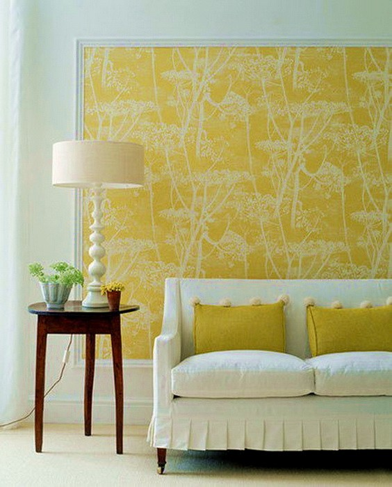 Желтый  Желтый цвет в интерьере