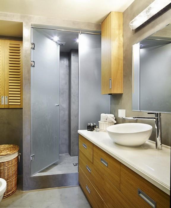 Маленькая  Дизайн небольшой ванной комнаты