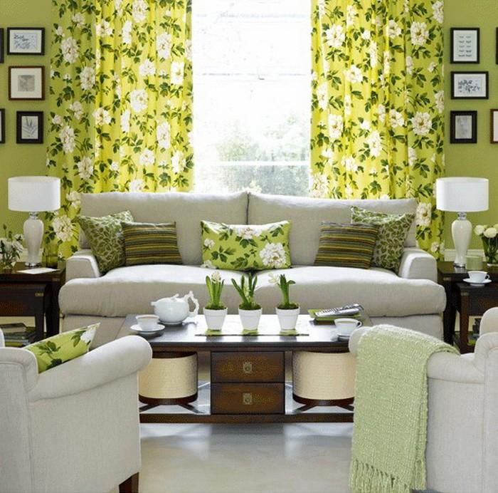 Зеленый Желтый  Желто зеленый цвет в интерьере