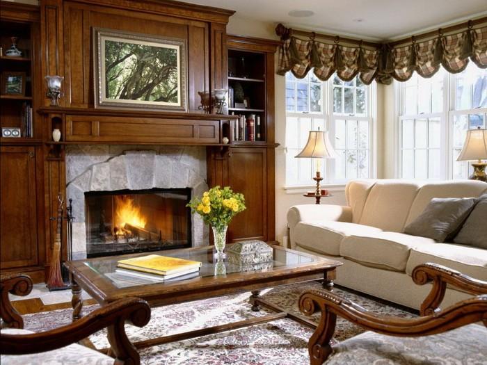 Дизайн гостиной с камином_03
