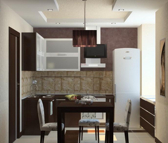 Маленькая  Дизайн кухни в хрущевке