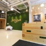 Экологичный стиль в офисном помещении