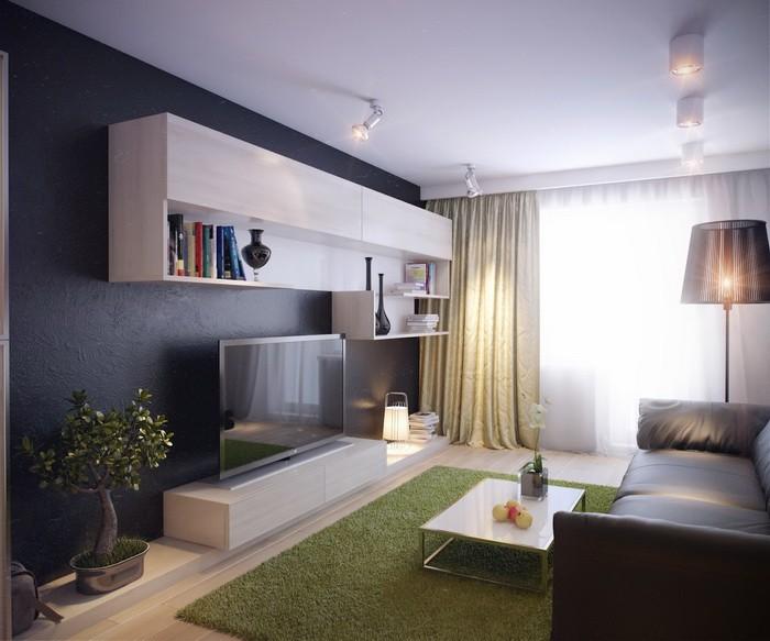 Маленькая  Интерьер маленькой гостиной