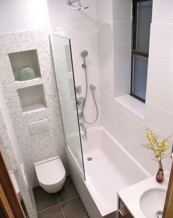 Маленькая  Интерьер ванной в хрущевке