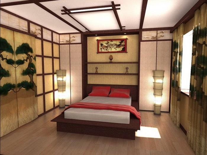 Спальня в восточном стиле_11