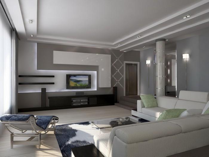 Модерн  Гостиная в стиле модерн
