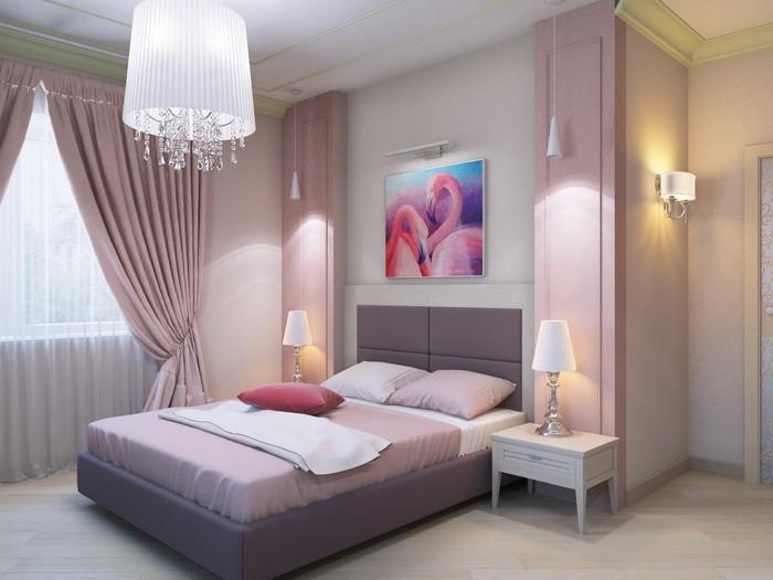 Покраска стен в спальне_11