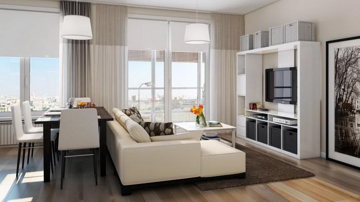 Расстановка мебели в гостиной_23