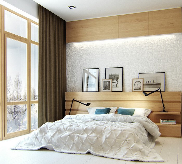 Скандинавский стиль в спальне