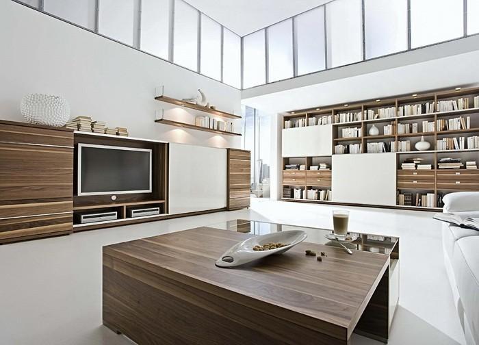 Стенки и стеллажи в в современной квартире