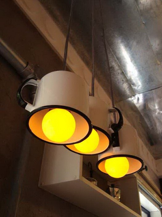 Светильники из кухонных принадлежностей_6