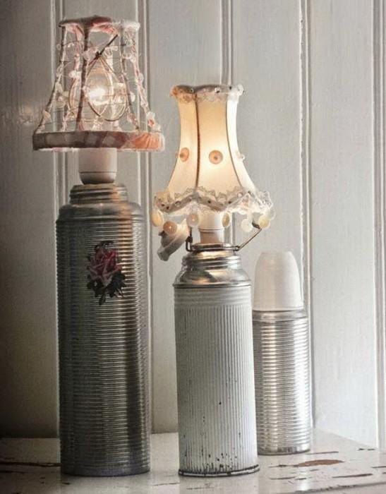 Светильники из кухонных принадлежностей