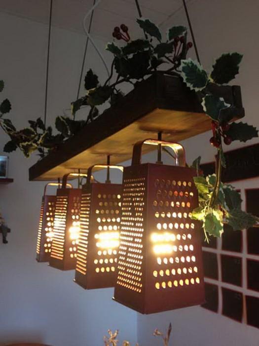 Светильники из кухонных принадлежностей_8