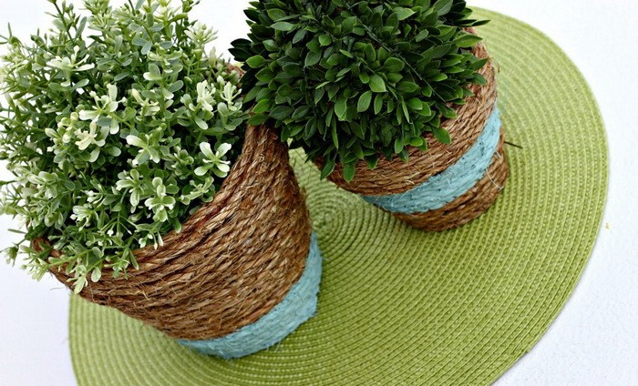 Горшки для цветов декор