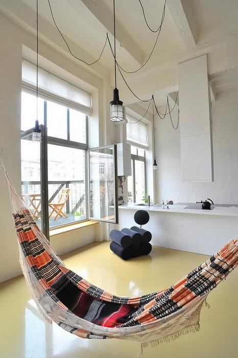 Гамак в интерьере квартиры